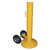 portable pipe bollards give the flexibility of immediate transportability. It can easily be moved by a single person