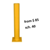 steel bollards are used in garages and warehouses to protect building edges, pipes or pedestrians.